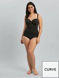 evans-essential-plunge-swimsuit-black