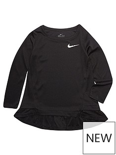 nike-girl-dri-fit-peplum-tunic-ls-top
