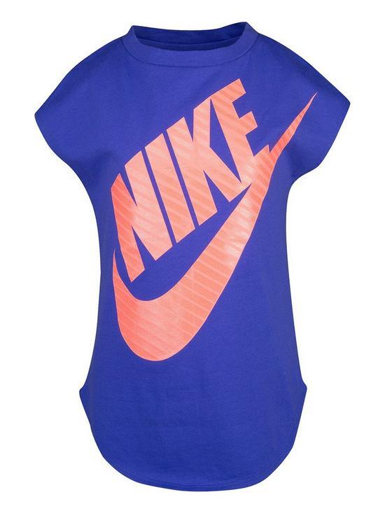 0bc10862 Nike Girls Jumbo Futura T-Shirt - Purple/Pink | very.co.uk