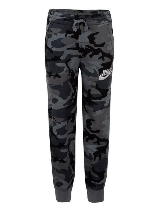 aecd1ec1 Nike NSW Club Fleece AOP Pants - Black Camo | very.co.uk