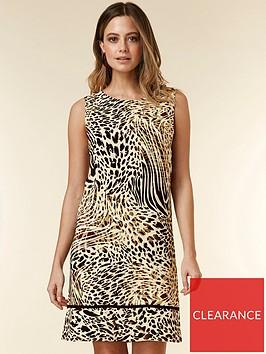 wallis-petite-animal-border-pinny-dress