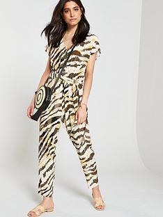 de510e50ce Wallis Zebra Jumpsuit - Khaki