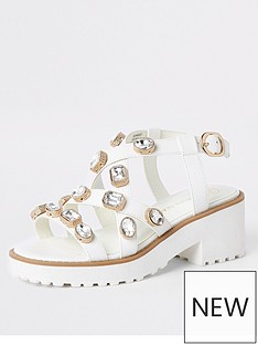 river-island-girls-embellished-chunky-sandals-white