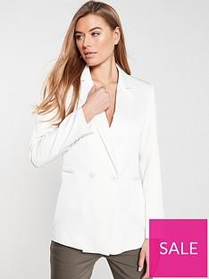 wallis-luxe-satin-blazer-ivory