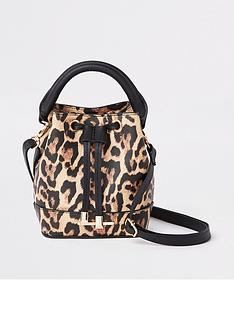 river-island-girls-leopard-print-bucket-bag-brown