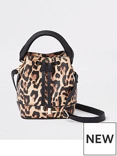 river-island-girls-leopard-print-bucket-bag-brown