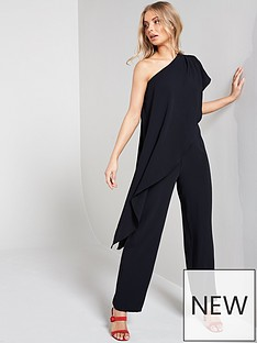 13671f1c18 Wallis One Shoulder Overlayer Jumpsuit