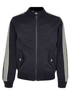 dc1cf517d238 River Island Boys Racer Neck Jacket - Navy
