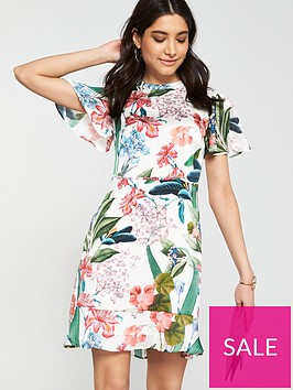 oasis-hot-tropics-high-neck-skater-dress-natural