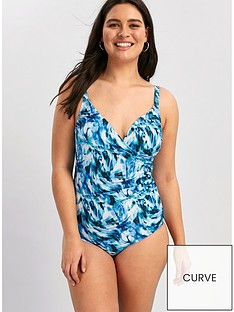 evans-blue-water-ripple-cross-front-swimsuit-blue