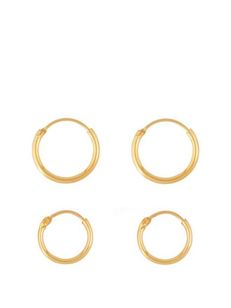 love-gold-9ct-gold-set-of-two-11mm-amp-13mm-hinged-hoop-earrings