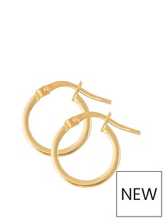 love-gold-9ct-gold-13mm-tube-hoop-earrings