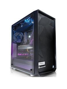 PC Specialist Stalker Ultimate Intel Core i7, 16GB RAM, 256GB SSD & 2TB Hard Drive, 8GB Nvidia RTX 2080 Graphics Desktop PC - Black