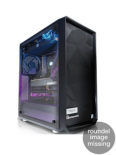 PC Specialist Stalker Colossus Intel Core i7, 16GB RAM, 256GB SSD & 2TB Hard Drive, 11GB Nvidia GTX 2080 Ti Graphics, Desktop PC - Black