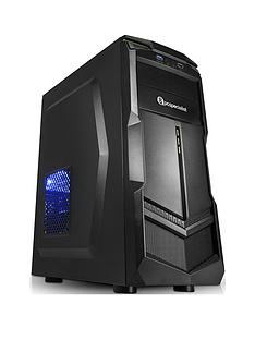PC Specialist Fusion Elite XS AMD Ryzen 3, 8GB RAM, 2TB Hard Drive, Integrated Vega Graphics, Desktop PC - Black