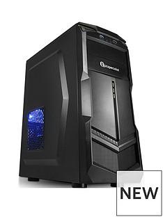 PC Specialist Fusion Elite II AMD Ryzen 3,8GB RAM,1TB Hard Drive, Desktop PC with4GB Nvidia GTX 1050 Ti Graphics - Black