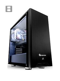 PC Specialist Stalker Pro VR II Intel Core i7,8GB RAM,120GB SSD & 1TB HDD,3GB Nvidia GTX 1060 Graphics, Desktop PC - Black