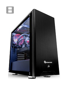 PC Specialist Tracer 2070 Intel Core i7, 16GB RAM, 120GB SSD & 1TB Hard Drive, 8GB Nvidia RTX 2070 Desktop PC - Black