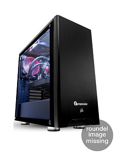 PC Specialist Stalker Titan Intel Core i5, 16GB RAM, 256GB SSD & 1TB Hard Drive, 8GB Nvidia GTX 2070 Graphics, Desktop PC - Black