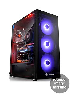 PC Specialist Striker Zen 2070 AMD Ryzen 7, 16GB RAM, 256GB SSD & 1TB Hard Drive, 8GB Nvidia RTX 2070 Graphics, Desktop PC - Black