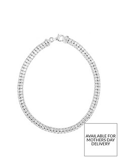 the-love-silver-collection-sterling-silver-cubic-zirconia-double-layer-tennis-bracelet