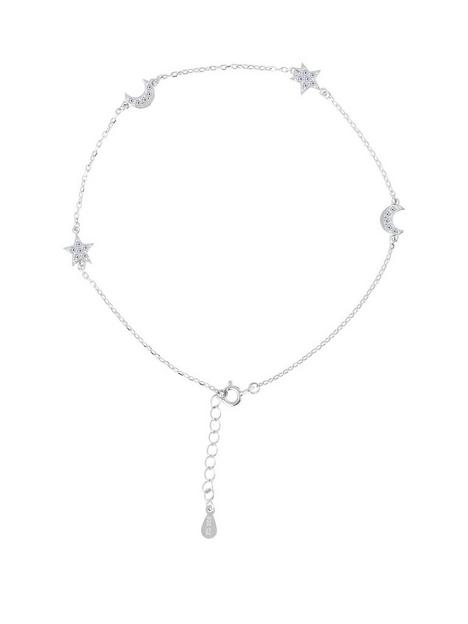 the-love-silver-collection-sterling-silver-cubic-zirconia-moon-amp-star-anklet