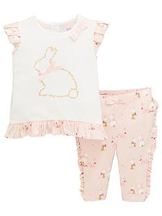 d65421010523 Baker by Ted Baker Baby Girls Bunnies Top And Legging Set - Pink