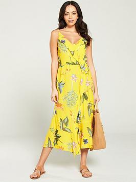 warehouse-isabella-floral-midi-dress-yellow
