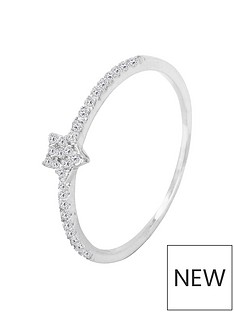 the-love-silver-collection-sterling-silver-cubic-zirconia-mini-star-ring