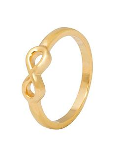 the-love-silver-collection-gold-plated-silver-infinity-ring