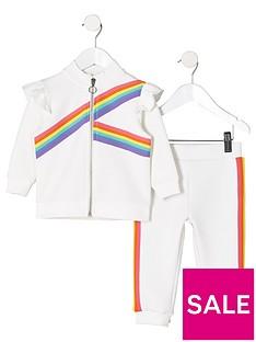 river-island-mini-mini-girls-rainbow-tape-track-outfit-white