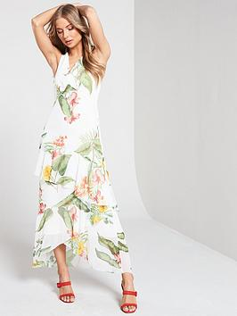 warehouse-havana-print-occasion-dress