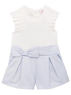 1326ab5cd Baker by Ted Baker Toddler Girls Pleat Bow Playsuit - Light Blue