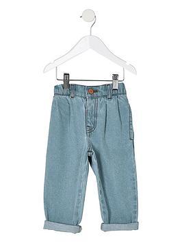 river-island-mini-mini-girls-mom-fit-jeans-blue