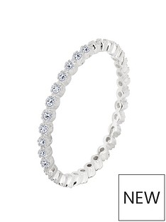 the-love-silver-collection-sterling-silver-cubic-zirconia-stacking-ring