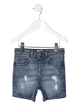 river-island-mini-mini-boys-ripped-slim-fit-denim-shorts-blue