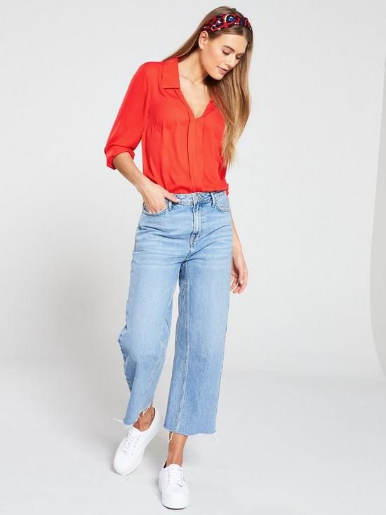 a08c42799ac284 ... V by Very Notched Neck Longline Blouse - Orange. 2 people are looking  at this right now.
