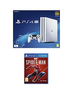 playstation-4-pro-ps4-white-pro-console-with-marvels-spider-man-and-optional-extras