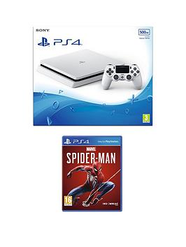 playstation-4-ps4-white-500gb-console-with-marvels-spider-man-and-optional-extras