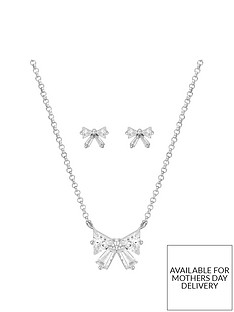 buckley-london-silver-plated-bow-earring-and-pendant-set-with-free-gift-box-and-bag