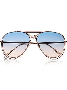 roberto-cavalli-civitella-blue-gradient-aviator-sunglassesnbsp-nbspbluerose-gold