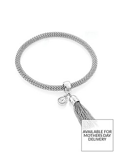 buckley-london-limited-edition-silver-plated-mesh-stretch-tassel-bracelet