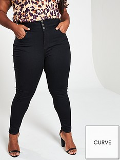 v-by-very-curve-high-waist-supersoft-skinny-jeans-black