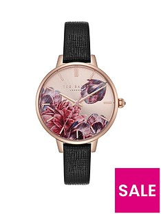ted-baker-ted-baker-blush-floral-dial-black-leather-strap-ladies-watch