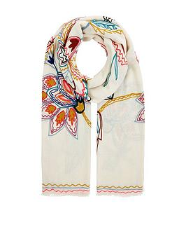 accessorize-nomad-embroidered-stitch-stole-scarf-ndash-multi