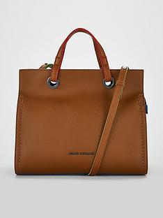f83d0c61a484 Armani Exchange Multi Colour Trim Tote Bag - Cognac
