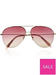 victoria-beckham-classic-rose-aviator-sunglasses-pink