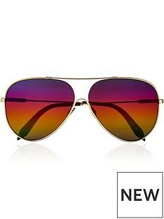 victoria-beckham-loop-navigator-rainbow-sunglasses-gold