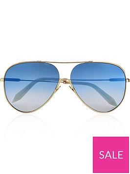 victoria-beckham-loop-navigator-graduated-blue-sunglasses-bluegold