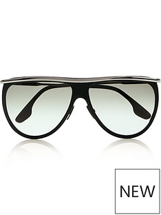 4acecb3c53 VICTORIA BECKHAM Half Moon High Brow Sunglasses - Black Silver